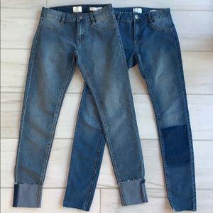 Bundle CottonOn mid rise jegging jeans size 4